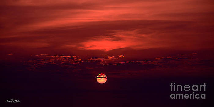 Crimson Sunrise Art photo download wallpaper and screensaver. by Geoff Childs