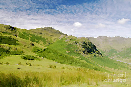 Crinkle Crags and Mackerel Sky by Tess Baxter