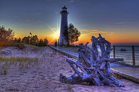 Crisp Point Sunset by Megan Noble