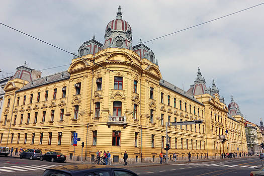 Croatian Railways Administration Building in Zagreb  by Borislav Marinic