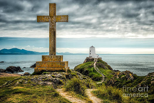 Adrian Evans - Cross at Llanddwyn Island