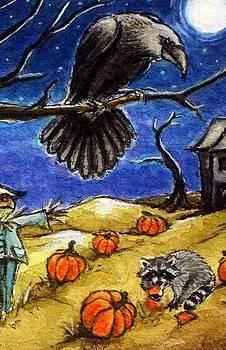 Crow In Moonlight by Debrah Nelson