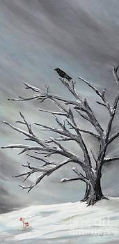 Crow in Tree by Jesslyn Fraser