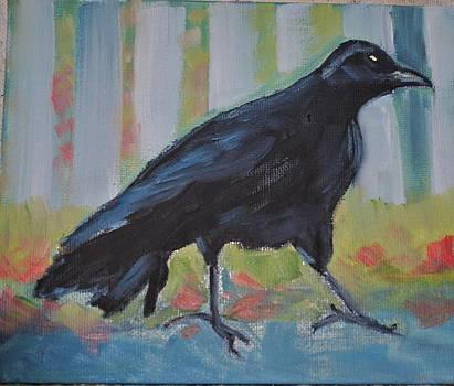 Crow Walking by Jody Smith