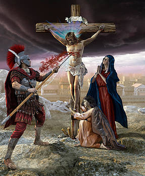 Crucifixion-Divine Mercy by Kurt Miller