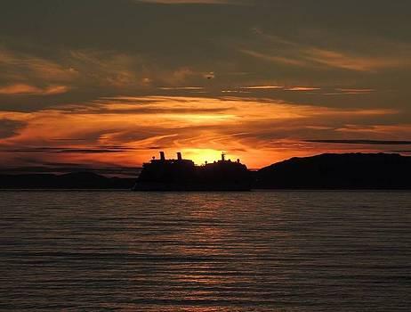 Cruising the sunset by Karen Horn