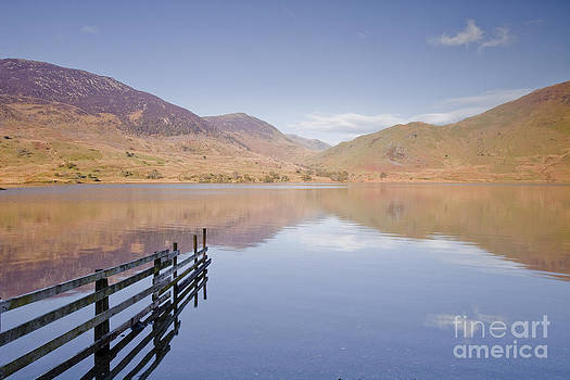 Crummock Water reflections by Julian Elliott
