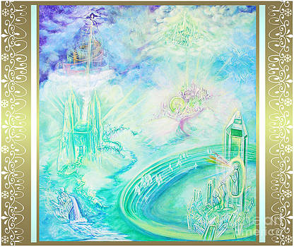 Crystal Kingdom with Scroll Border by Joyce Jackson