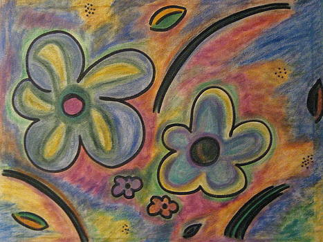 Cubism Flowers 2.3 by Lois Picasso