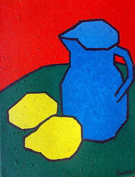 Cubist Jug and Lemons by Tis Art