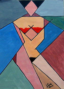 Cubist Nude by Fethi Canbaz