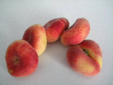 Cubist view of Peento peaches by Manuela Constantin