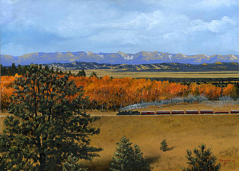 Cumbres and Toltec Christmas Steam Train by Cecilia Brendel