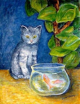 Cat and Fish by Joan Landry