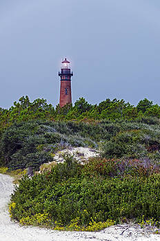Currituck Beach Lighthouse before the storm by Greg Reed