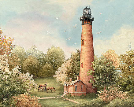 Currituck Lights by Beverly Levi-Parker