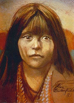Curtis Indian Girl by Kean Butterfield