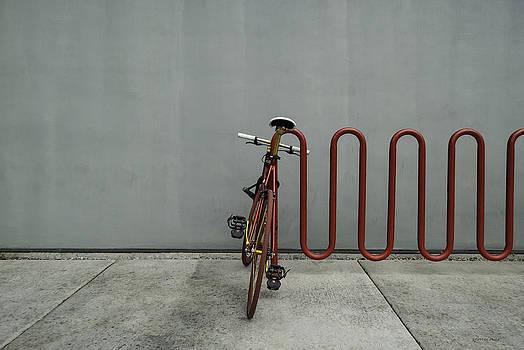 Curved Rack in Red - Urban Parking Stalls by Steven Milner