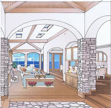 Custom Homes Interior by Jerry Bates
