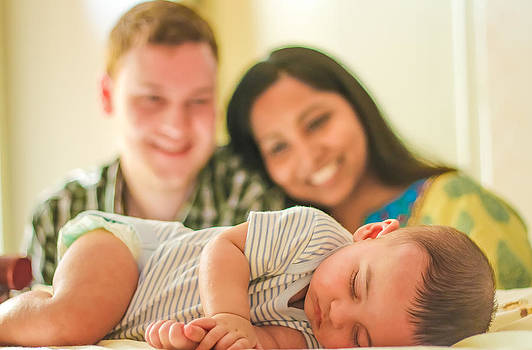Cute Baby and Parents by Sravanth Gajula