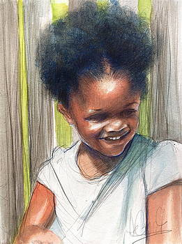 Cute Black Child by Gregory DeGroat