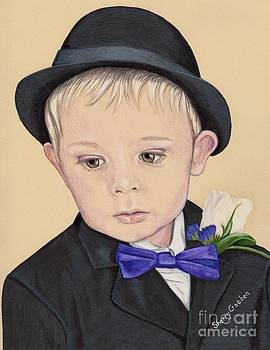 Cute Little Boy in Suit by Sherry Goeben