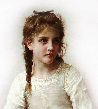 Cute Little Girl by Bouguereau
