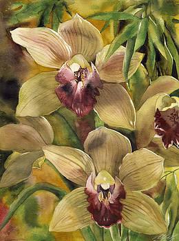Alfred Ng - cymbidium orchid with bamboo