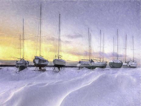 1st Place - Cynthia Fleury - Seasons 2015 Online Art Exhibition - Winter Waves by Cynthia Fleury