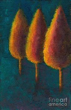 Cypress Trees by Sandy Linden