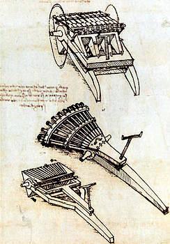 Science Source - Da Vinci Multi-barrel Gun Designs 1481