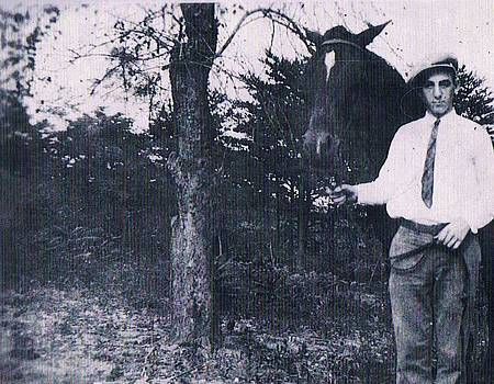 Anne-Elizabeth Whiteway - Dad and HIs Horse Circa 1928