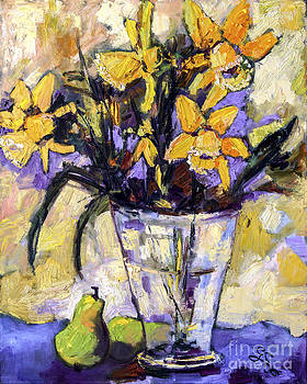 Ginette Callaway - Daffodils and Pears Still Life