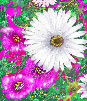 Jim Hubbard - Daisies and Petunias