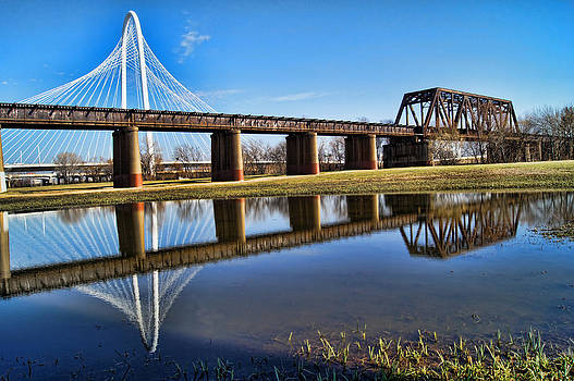 Dallas Bridges Old and New by Kathy Churchman