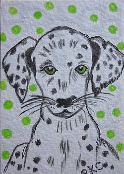 Dalmatian Puppy by Kathy Marrs Chandler