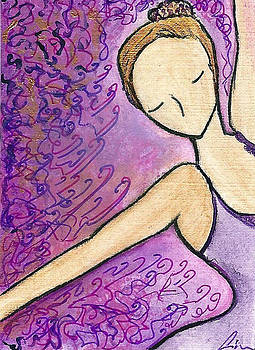 Dancer in electric pink by Gioia Albano