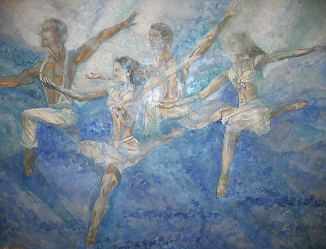Dancers  24 by Caron Sloan Zuger