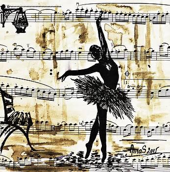 Dancing in the Rain by AmaS Art