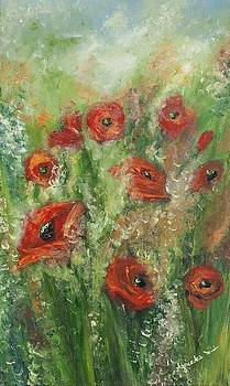 Dancing poppies by Agnieszkaa Dzida