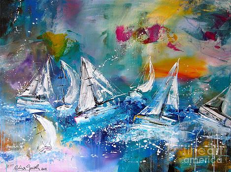 Dancing Sailboats by Nikolina Gorisek