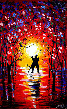 Dancing sunset original painting by Svilen And Lisa