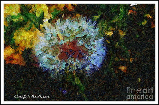 Dandelion in the style of Vincent van Gogh by Arif Zenun Shabani