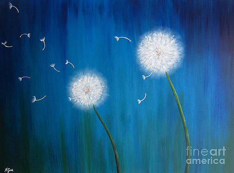 Dandelions at night by Nikolina Gorisek