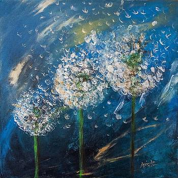 Dandelions on the wind by Agnieszkaa Dzida