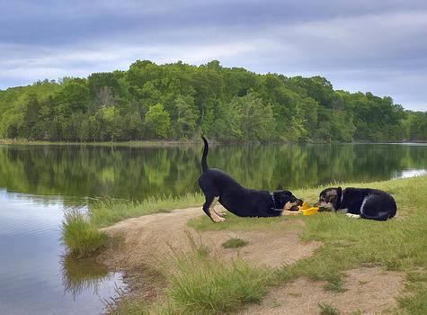 Darcy and Hannah at the Lake by Kathleen Holley