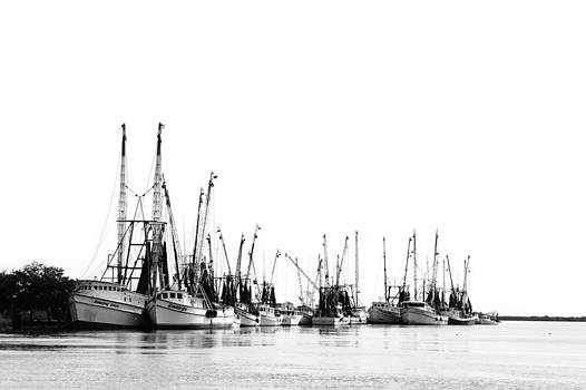 Darien Harbour in BW by Mary Hershberger