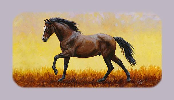 Crista Forest - Dark Bay Running Horse Phone Case
