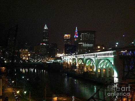 Date Night In Cleveland - From His Window by LCS Art
