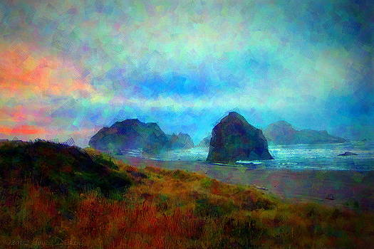 Joyce Dickens - Dawn On The Pacific Coast Impressionism